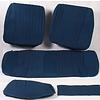 ID/DS Garniture pour banquette AR PA en étoffe bleu (partie centrale en deux tons) pour assise 1 pièce dossier 4 pièces Citroën ID/DS