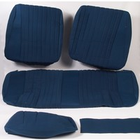thumb-Garniture pour banquette AR PA en étoffe bleu (partie centrale en deux tons) pour assise 1 pièce dossier 4 pièces Citroën ID/DS-1