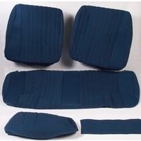 thumb-Sitzbezugsatz für Pallas Hinterbank Stoff-bezogen blau (Mittelteil mit Bahnen): Sitz 1 Teil Rückenlehne 4 Teile Citroën ID/DS-1
