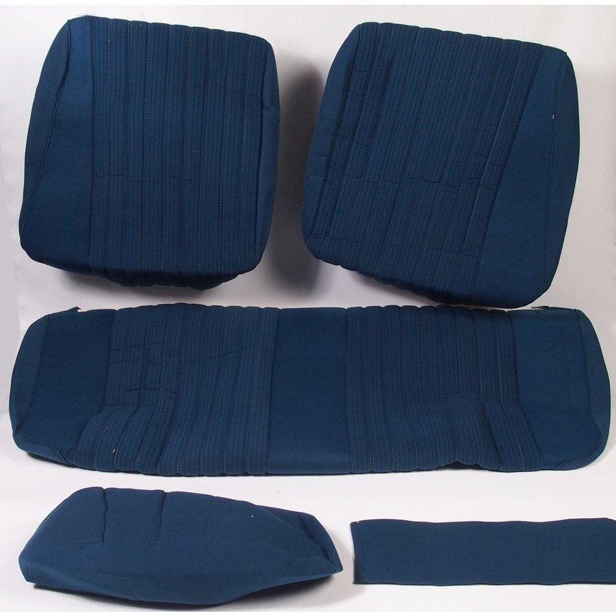 Garniture pour banquette AR PA en étoffe bleu (partie centrale en deux tons) pour assise 1 pièce dossier 4 pièces Citroën ID/DS-2