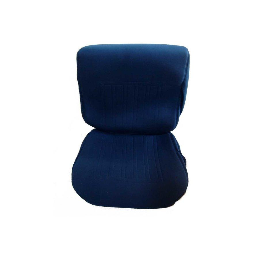 Garniture siège AV en étoffe bleu unie pour assise + dossier Panneau de fermeture en simili blanchâtre imprimé gauffre Citroën ID/DS-2