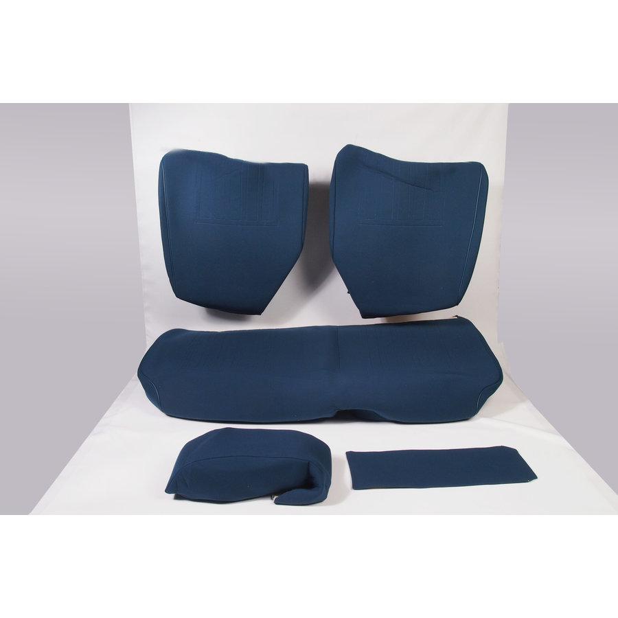 Garniture pour banquette AR en étoffe bleu unie pour assise 1 pièce dossier 4 pièces imprimé gauffre Citroën ID/DS-1