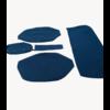 ID/DS Sitzbezugsatz für Hinterbank Stoff-bezogen blau breite Armlehne Citroën ID/DS