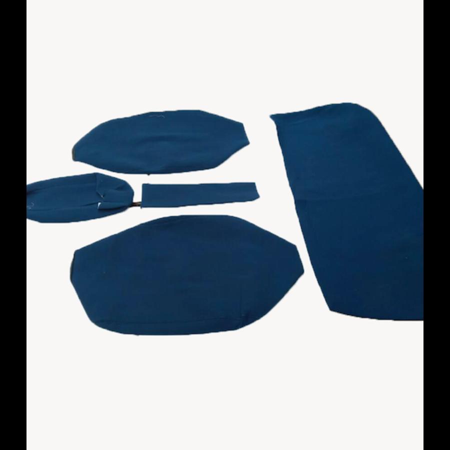 Garniture pour banquette AR en étoffe bleu accoudoir large Citroën ID/DS-1