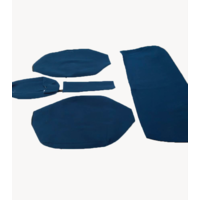 thumb-Sitzbezugsatz für Hinterbank Stoff-bezogen blau breite Armlehne Citroën ID/DS-2