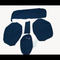 thumb-Sitzbezugsatz für Hinterbank Stoff-bezogen blau breite Armlehne Citroën ID/DS-4