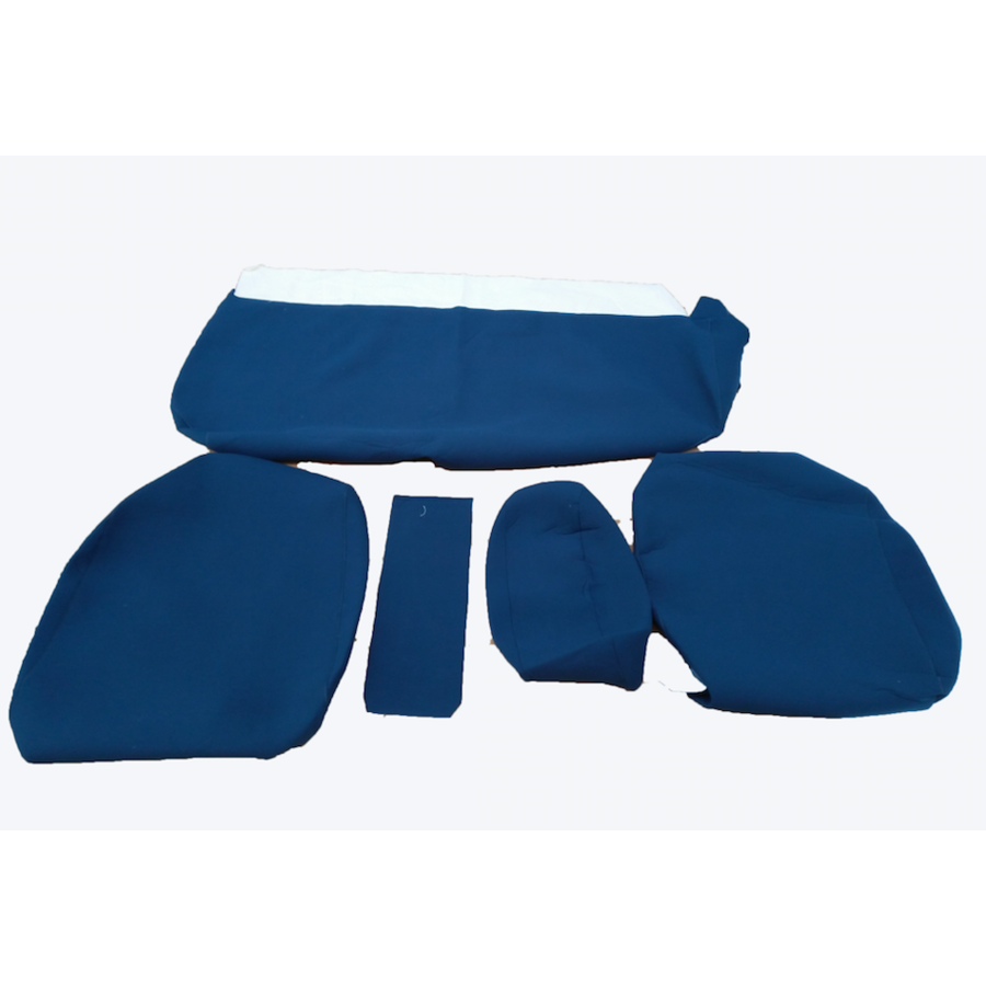 Rear bench cover old model narrow armrest blue cloth Citroën ID/DS-1