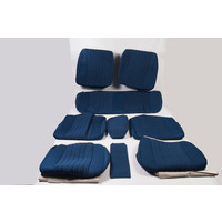 thumb-Set of seat covers for 1 car pallas 70-73 blue cloth Citroën ID/DS-3