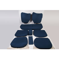 Set of seat covers for 1 caruperpecial blue cloth Citroën ID/DS