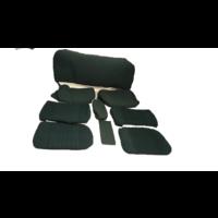 Garniture complète (2 sièges AV + 1 banquette AR) en étoffe vert (partie centrale en deux tons) Citroën ID/DS
