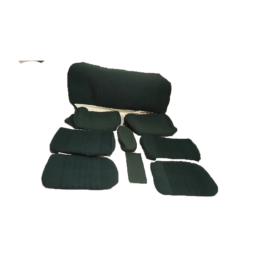 Set of seat covers for 1 car pallas 70-73 green cloth Citroën ID/DS-1