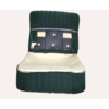 ID/DS Front seat half mounted pallas 70-73 green cloth Citroën ID/DS