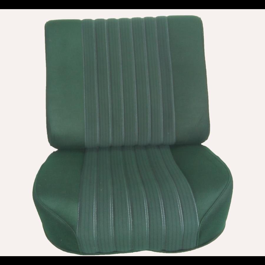 Voorstoelhoes groen stof half gemonteerd Citroën ID/DS-3
