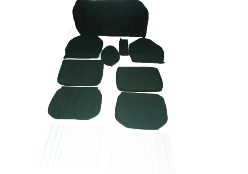 ID/DS Set of seat covers for 1 caruperpecial green cloth Citroën ID/DS