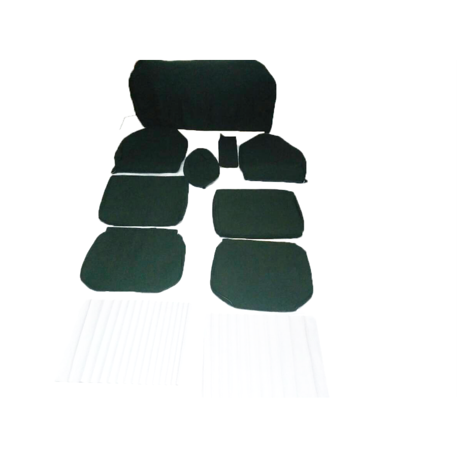Set of seat covers for 1 caruperpecial green cloth Citroën ID/DS-1