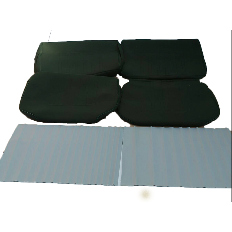 Set of seat covers for 1 caruperpecial green cloth Citroën ID/DS-2