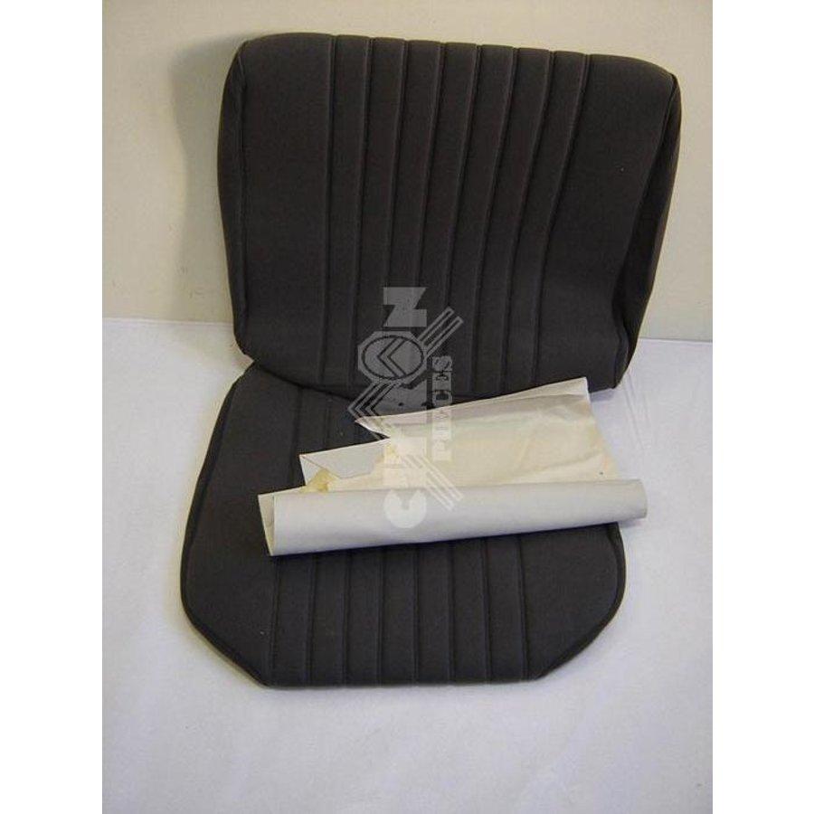 Sitzbezugsatz für Vordersitz Stoff-bezogen grau (1 Farbton): Sitz + Rückenlehne + Abschlussfüllung in weißemTarga Citroën ID/DS-1