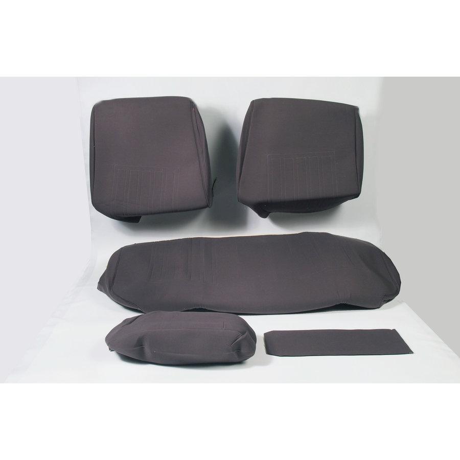 Sitzbezugsatz für Hinterbank Stoff-bezogen grau (1 Farbton): Sitz 1 Teil Rückenlehne 4 Teile Waffel-Modell Citroën ID/DS-3