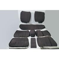 Garniture complète (2 sièges AV + 1 banquette AR) en étoffe gris unie Citroën ID/DS