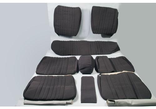 ID/DS Garniture complète (2 sièges AV + 1 banquette AR) en étoffe gris unie Citroën ID/DS