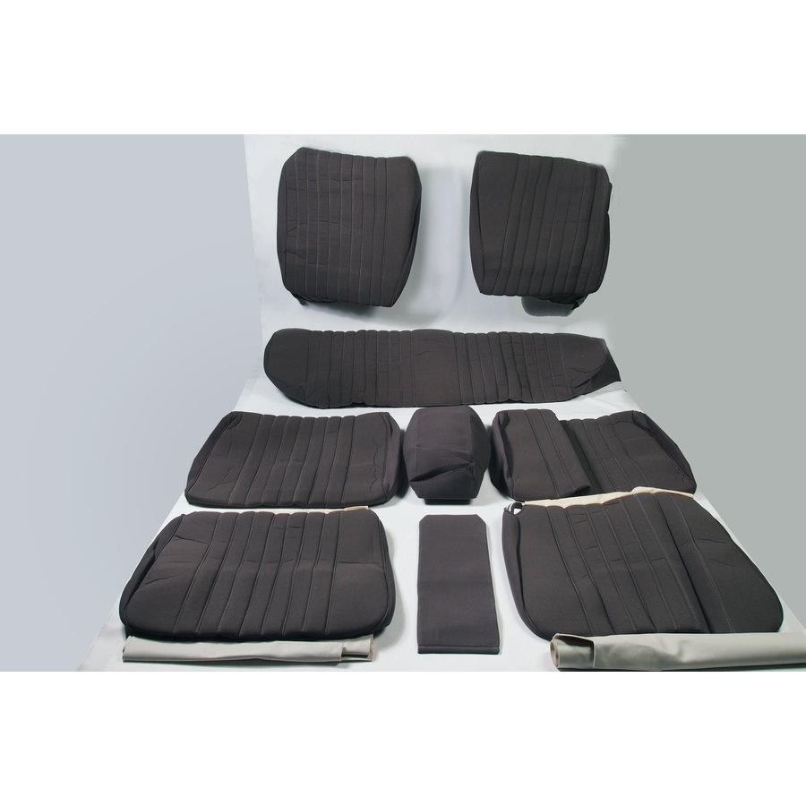 Garniture complète (2 sièges AV + 1 banquette AR) en étoffe gris unie Citroën ID/DS-1