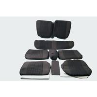 thumb-Garniture complète (2 sièges AV + 1 banquette AR) en étoffe gris (partie centrale en deux tons) Citroën ID/DS-1