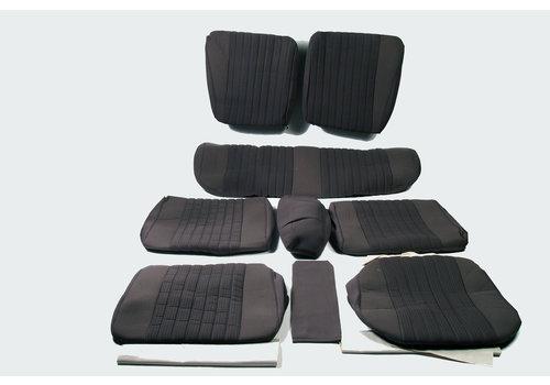 ID/DS Garniture complète (2 sièges AV + 1 banquette AR) en étoffe gris (partie centrale en deux tons) Citroën ID/DS