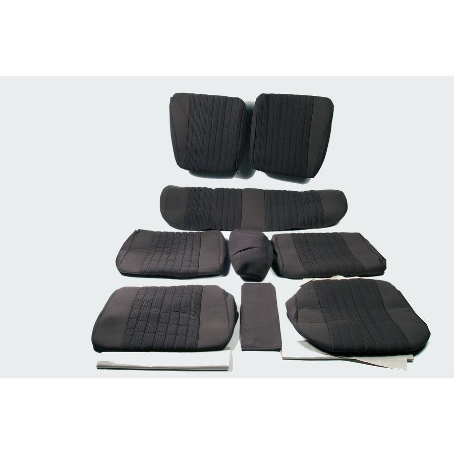 Garniture complète (2 sièges AV + 1 banquette AR) en étoffe gris (partie centrale en deux tons) Citroën ID/DS-1