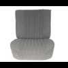 ID/DS Voorstoelhoes grijs stof gemonteerd Citroën ID/DS