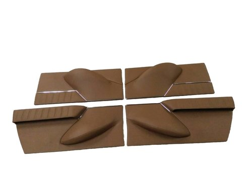 Set of 4 door cards in brown leather Citroën ID/DS