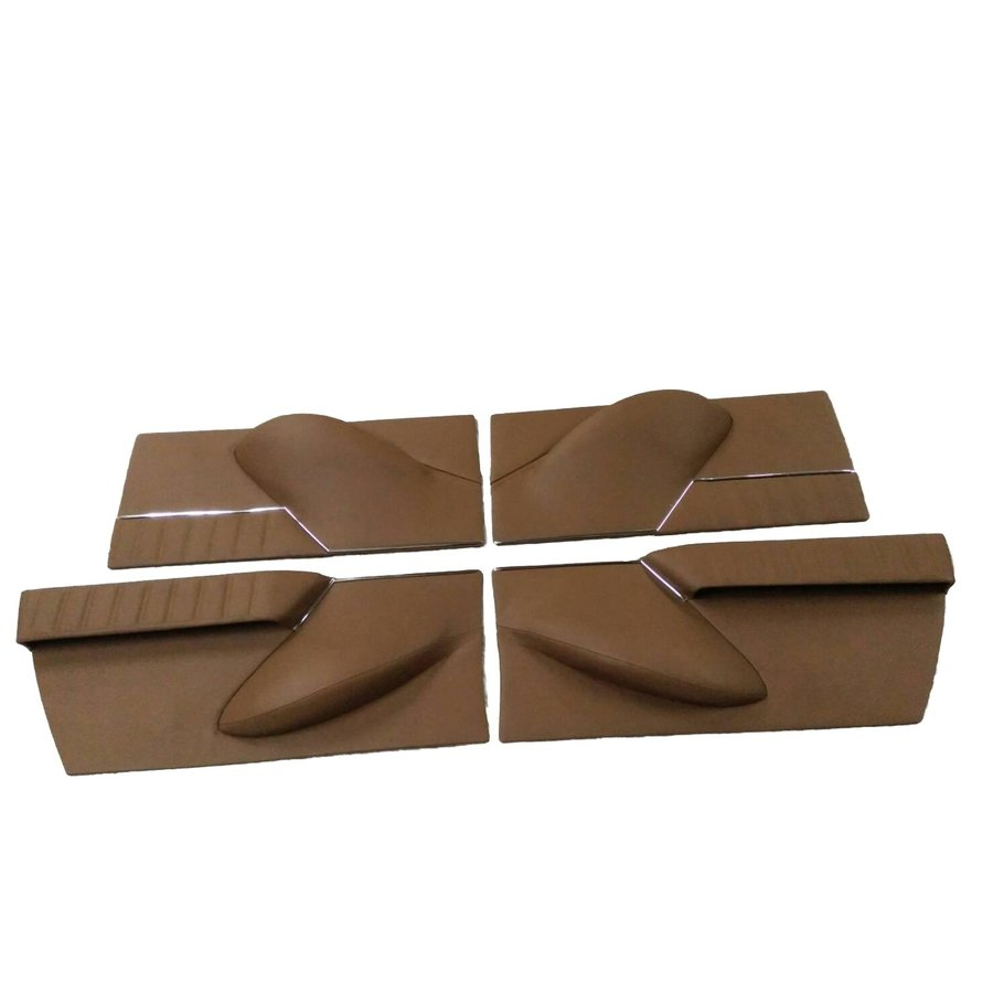 Set of 4 door cards in brown leather Citroën ID/DS-1