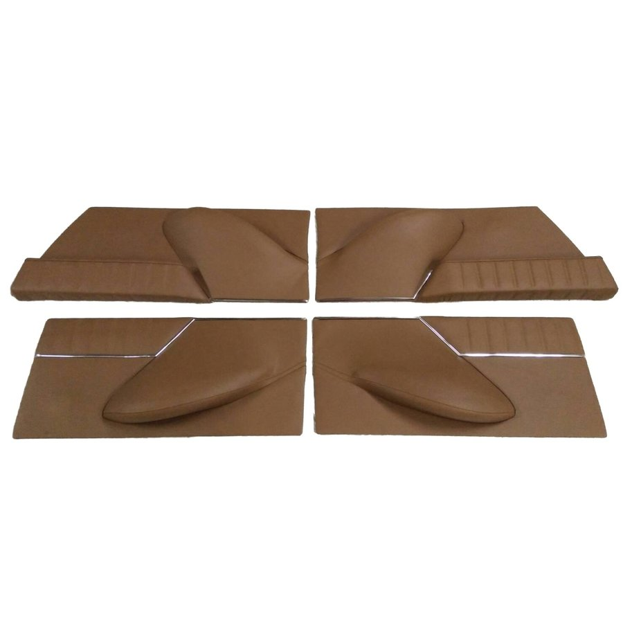 Set of 4 door cards in brown leather Citroën ID/DS-4
