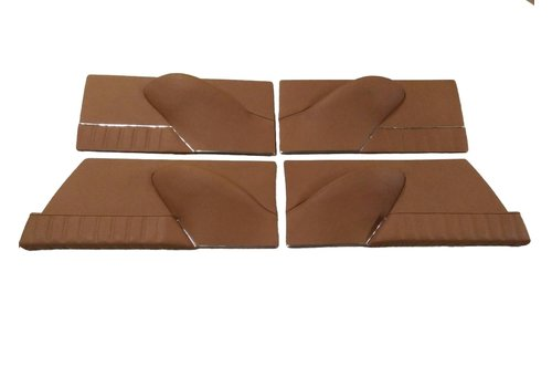 Set of 4 door cards in light brown leather Citroën ID/DS