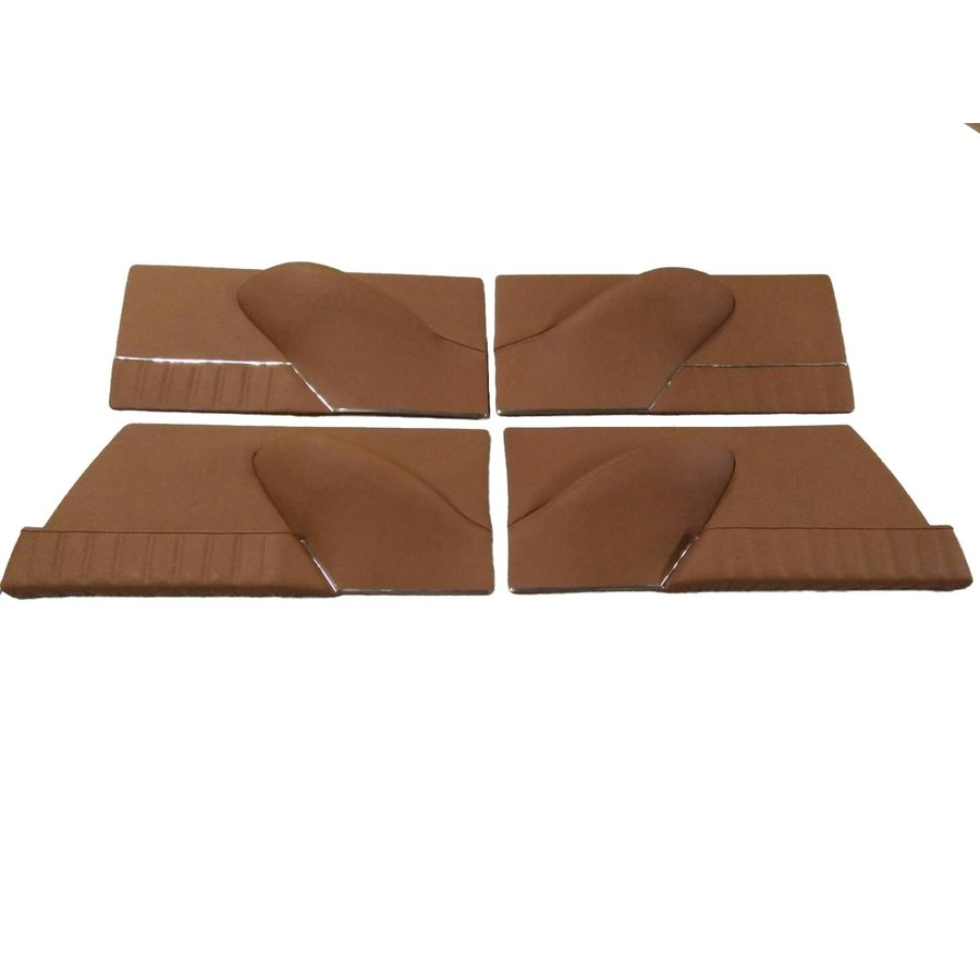 Set of 4 door cards in light brown leather Citroën ID/DS-1