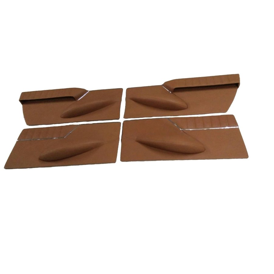 Set of 4 door cards in light brown leather Citroën ID/DS-4