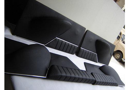ID/DS Jeu de panneaux de porte cuir noir [4](réplique du panneau PA) Citroën ID/DS