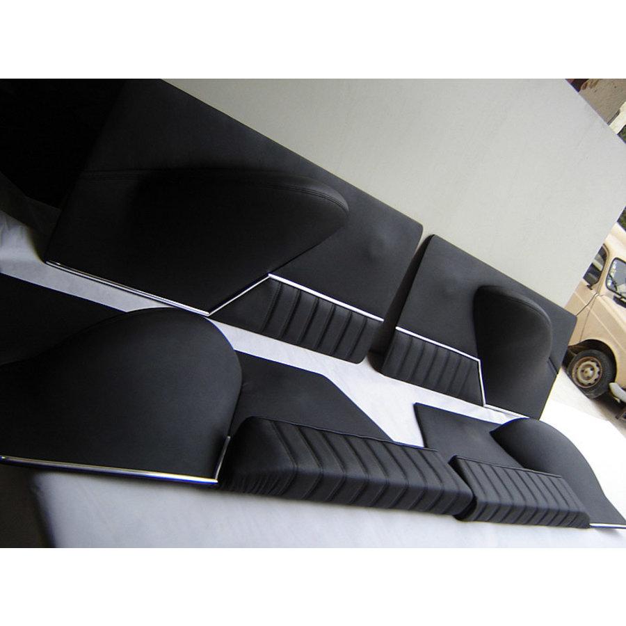 Jeu de panneaux de porte cuir noir [4](réplique du panneau PA) Citroën ID/DS-1