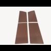 ID/DS 1 Satz Türverkleidungen [4] braun Kunstleder für Modell mit geschraubter Armstütze Citroën ID/DS