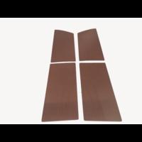 thumb-Door card set (flat) brown leatherette Citroën ID/DS-1