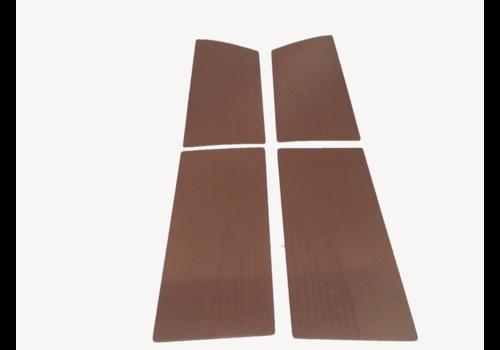 ID/DS Door card set (flat) brown leatherette Citroën ID/DS