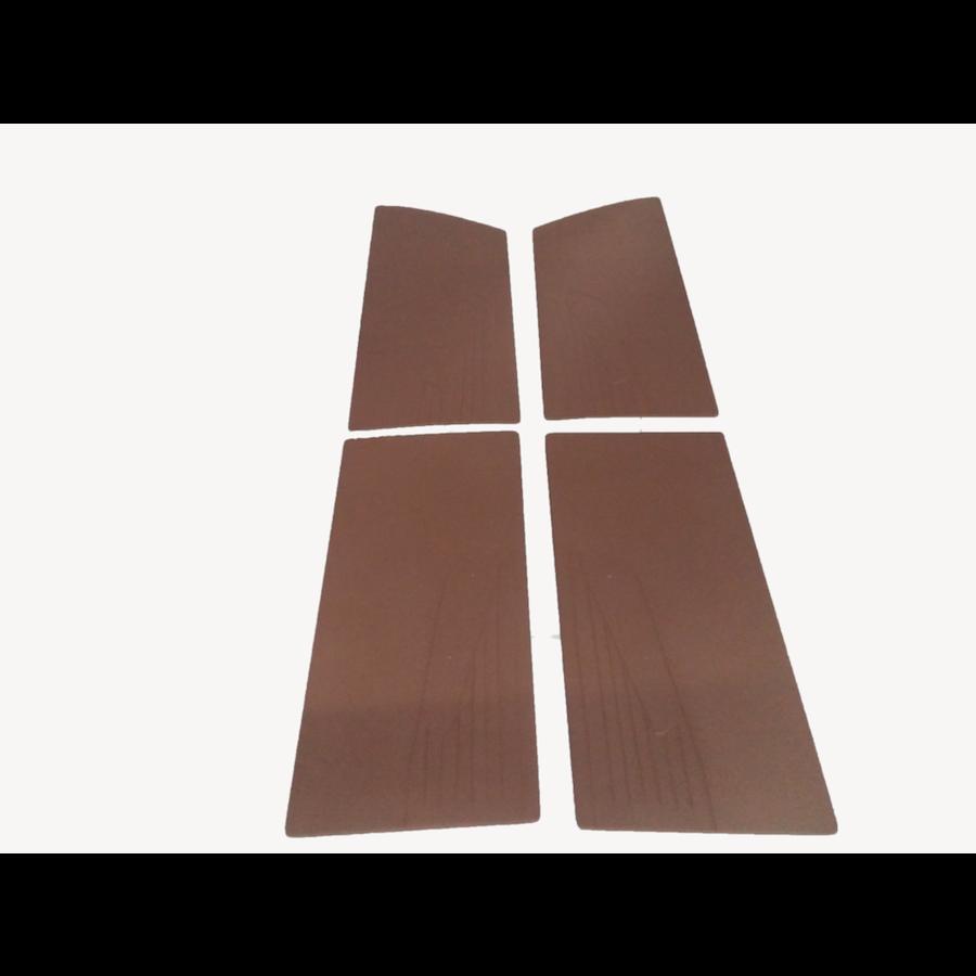 1 Satz Türverkleidungen [4] braun Kunstleder für Modell mit geschraubter Armstütze Citroën ID/DS-1