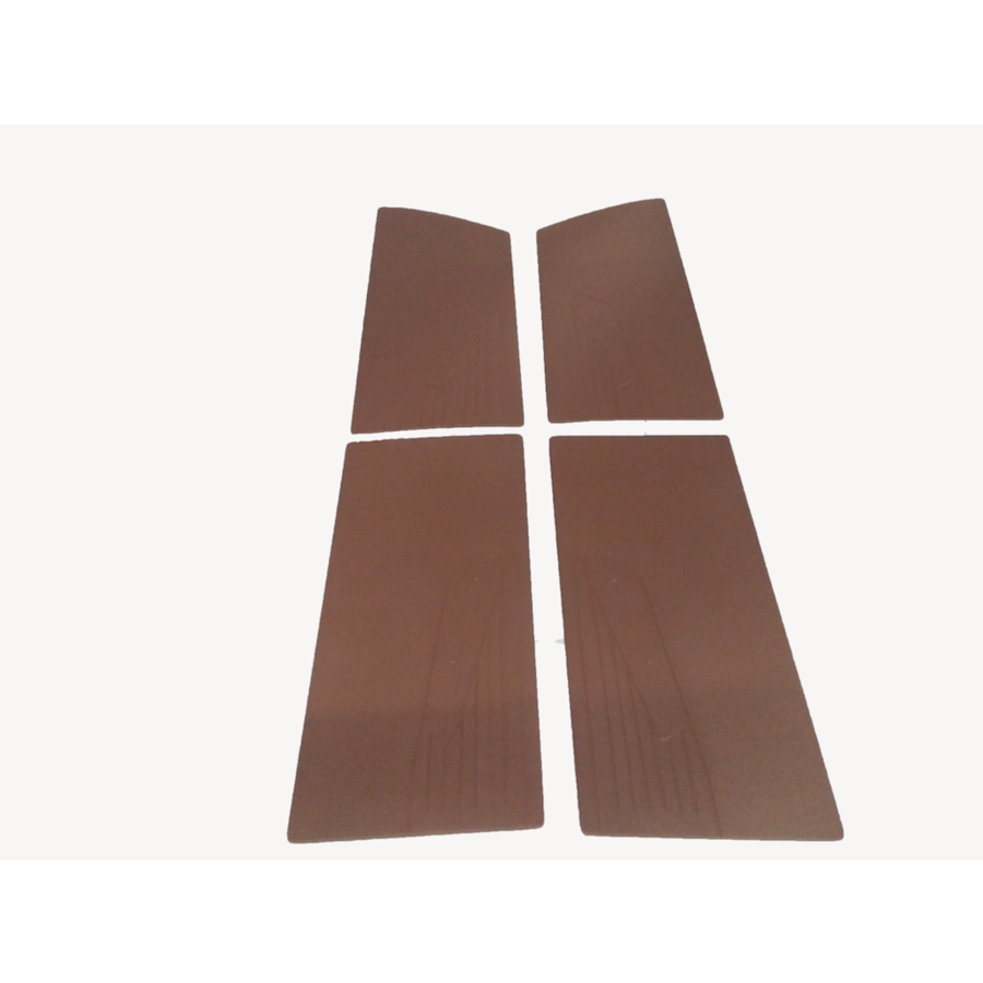 Door card set (flat) brown leatherette Citroën ID/DS-1
