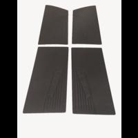 thumb-Door card set (flat) black leatherette Citroën ID/DS-1