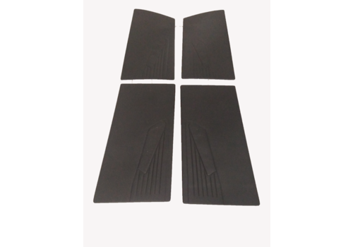 Door card set (flat) black leatherette Citroën ID/DS