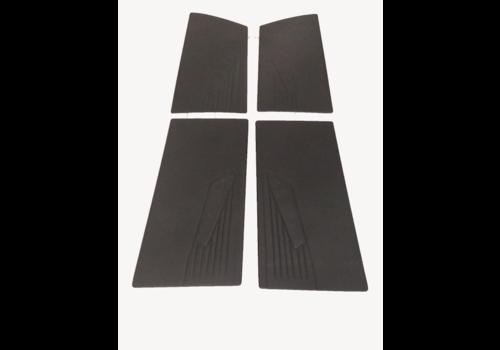 ID/DS Jeu de panneaux de portes [4] en simili noir (pour accoudoir vissé) Citroën ID/DS