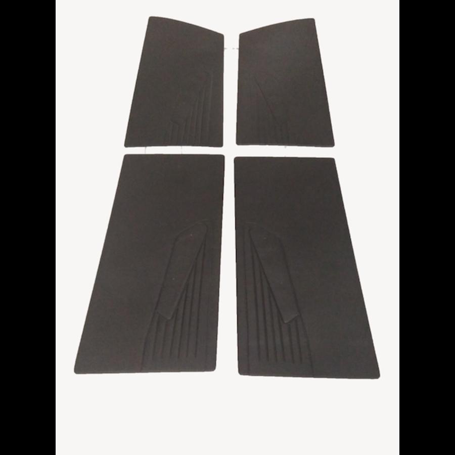 1 Satz Türverkleidungen [4] schwarzes Kunstleder für Modell mit geschraubter Armstütze Citroën ID/DS-1