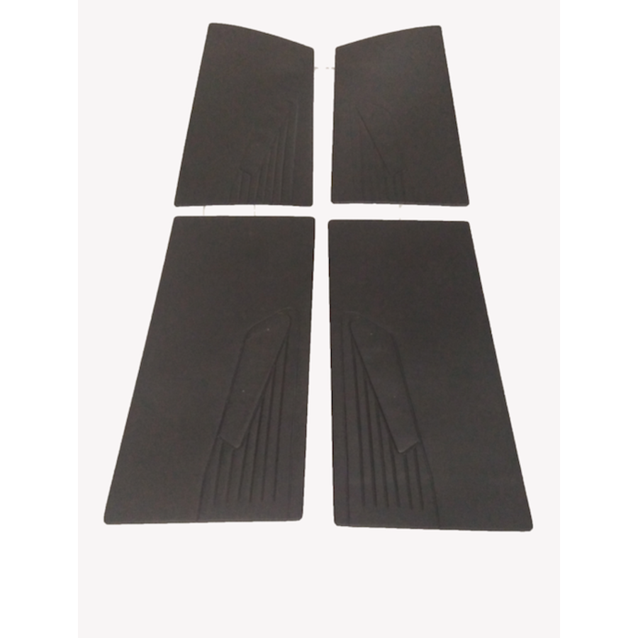 1 Satz Türverkleidungen [4] schwarzes Kunstleder für Modell mit geschraubter Armstütze Citroën ID/DS-2