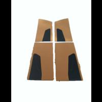 thumb-Door card set ocher cloth (flat foruperpecial) Citroën ID/DS-1