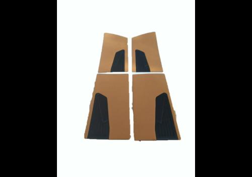 Conjunto de paineis de porta (4 peças) em tecido ocre D Super D Special 70-75 Citroën ID/DS