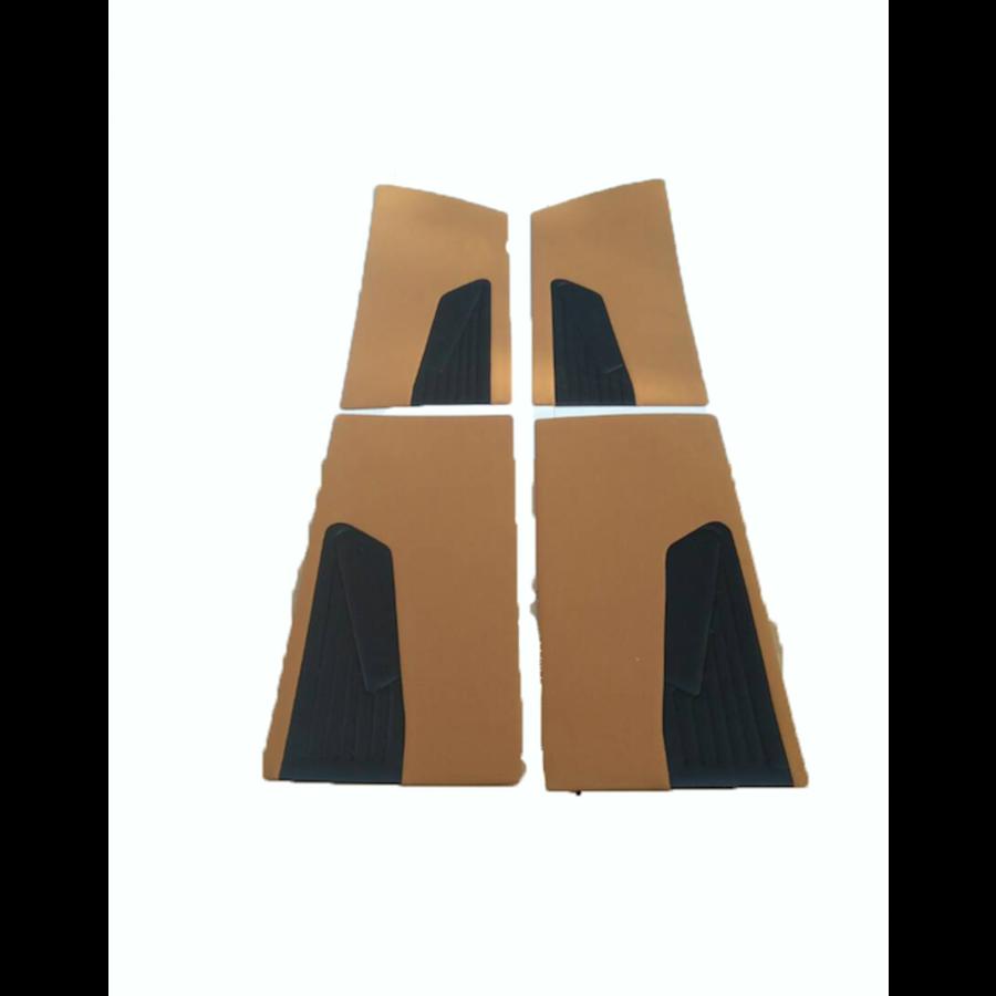 Door card set ocher cloth (flat foruperpecial) Citroën ID/DS-1